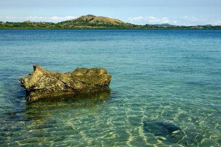 kisimamy bay, madagascar lagoon ,rock  and coastline
