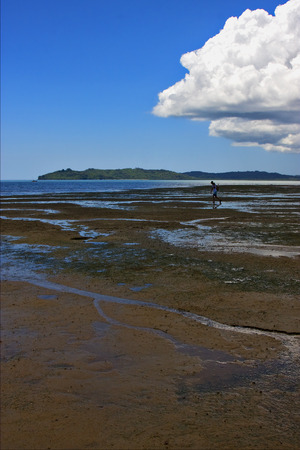 river  cloudy man branch hill lagoon and coastline in madagascar nosy be Stock Photo