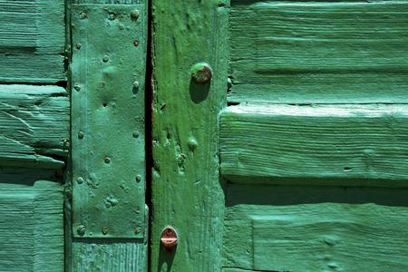 lanzarote abstract door wood in the green Stock Photo