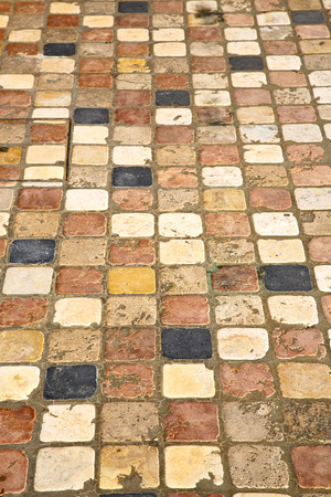curch: in varano borghi  street lombardy italy  varese abstract   pavement of a curch and marble