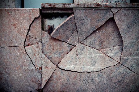 broken wall: vaduz liechtenstain pared roto abstracta