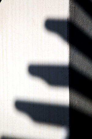 lanzarote: lanzarote abstract shadow in a wall white spain Stock Photo