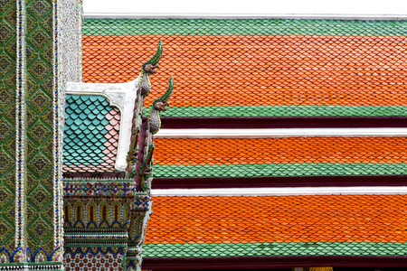 red cross red bird: bangkok in the temple  thailand abstract cross colors roof wat  palaces   asia sky   and  colors religion mosaic