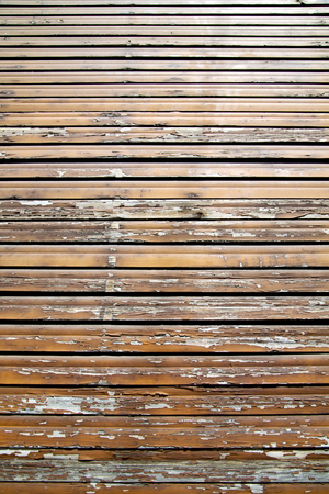 venetian blind: besnate window  varese italy abstract      wood venetian blind in the concrete  brick Stock Photo