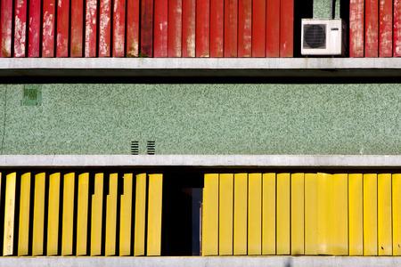 la boca: abstract texture  wall in office la boca buenos aires argentina  air condition Stock Photo