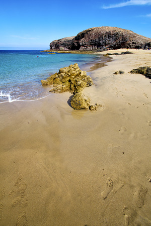 froth: water in lanzarote coastline  froth  spain pond  rock stone sky cloud beach   musk  and summer