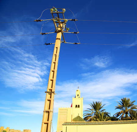 maroc: the history  symbol  in morocco  africa  minaret religion and  blue    sky