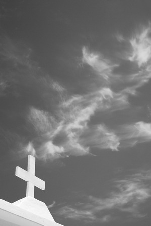 crucify: in europe greece a cross     the cloudy sky