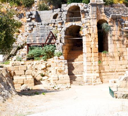 necropolis: myra      in turkey europe old roman necropolis and indigenous tomb stone