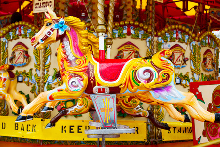 carousel horse: horse     attraction painted carousel leisure for the kids