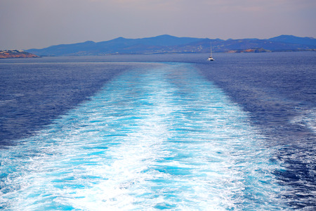 froth: foam   and froth in the  sea      of mediterranean greece Stock Photo