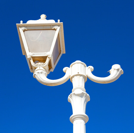 oman background: sky and abstract background in oman old streetlamp in the clear Stock Photo
