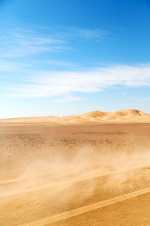 the empty quarter and outdoor sand dune in oman old desert rub al khali dust storm Reklamní fotografie