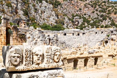 myra      in turkey europe   old roman necropolis and indigenous tomb stone Stock Photo