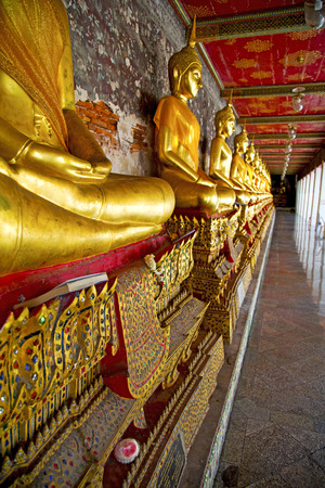 krung: siddharta  in the temple bangkok asia   thailand abstract cross        step    wat   palaces Stock Photo