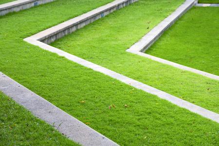 krung: thailand abstract cross garden grass in the temple  bangkok  asia Stock Photo