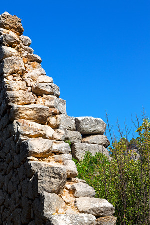 broken hill: anatolia    from    the hill in asia turkey termessos old architecture and nature