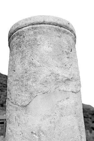 Roman temple: asia  greece and  roman    temple   in  myra  the    old column  stone  construction Foto de archivo