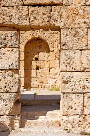 Roman temple: asia  greece and  roman    temple   in  athens the    old column  stone  construction Foto de archivo