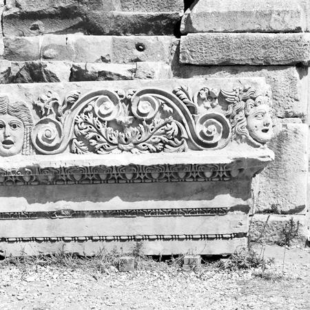 indigenous: myra    in    turkey europe    old roman necropolis and indigenous tomb stone