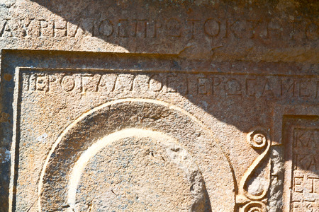 headstone: in antique cemetery of turkey asia and    mystery headstone