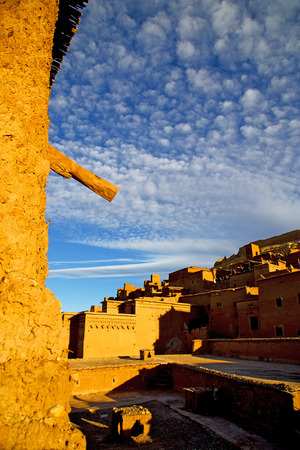 islamic scenery: africa in morocco the old contruction and the historical village