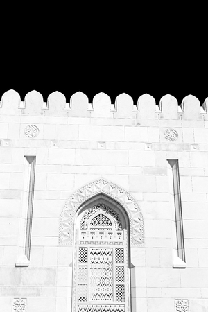 oman background: in oman the wall of big muscat mosque abstract background and antique