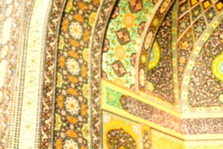 in iran  blur  islamic mausoleum old   architecture mosque mosaic