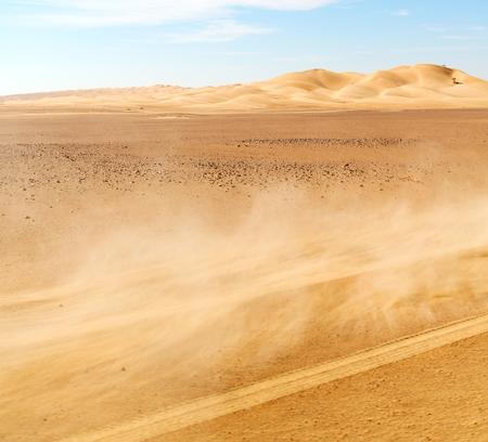 desert storm: the empty quarter and outdoor  sand dune in oman old desert rub al khali  dust storm