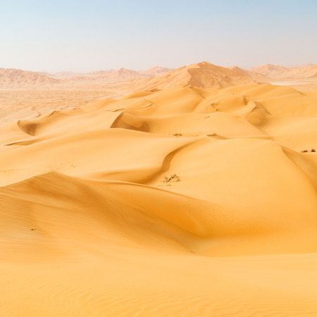 oman background: the empty quarter and outdoor  sand dune in oman old desert rub al khali Stock Photo