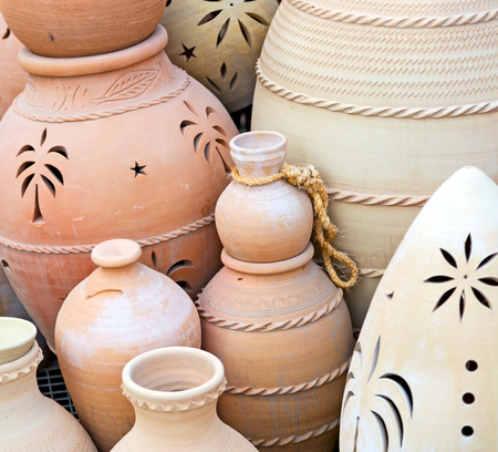 market sale manufacturing container in    oman muscat the old pottery Stock Photo