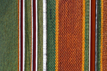 krung: thailand abstract cross colors roof wat  palaces in the temple  bangkok  asia Stock Photo