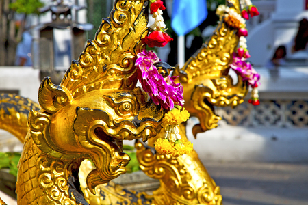 in the temple bangkok asia   thailand abstract cross        step     wat  palaces Editorial