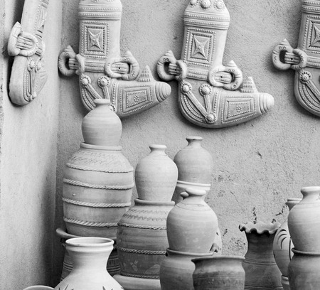 old container: market sale manufacturing container in    oman muscat the old pottery Stock Photo
