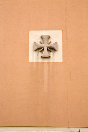distort: abstract cross in a  church crenna gallarate varese italy Stock Photo