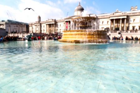 trafalgar: in london england trafalgar square and the    old water  fountain