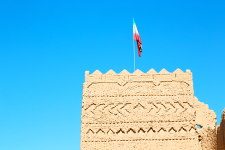in iran the old castle near saryadz brick and sky