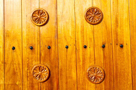 oman background: texture and abstract background line in oman old antique door Stock Photo