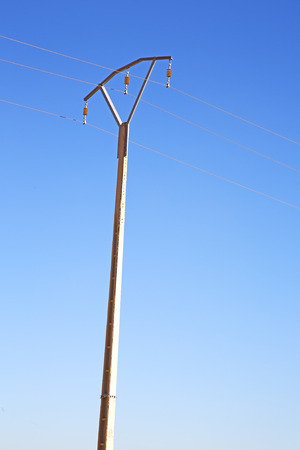 utility pole:   utility pole in africa morocco energy and distribution pylon Stock Photo
