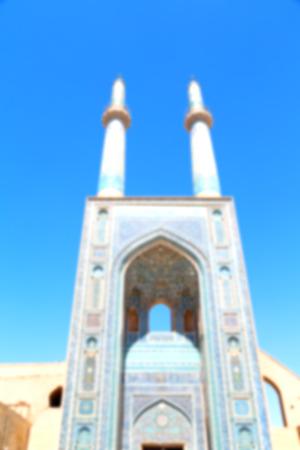 in iran  blur  islamic mausoleum old   architecture mosque  minaret near the  sky Stock Photo