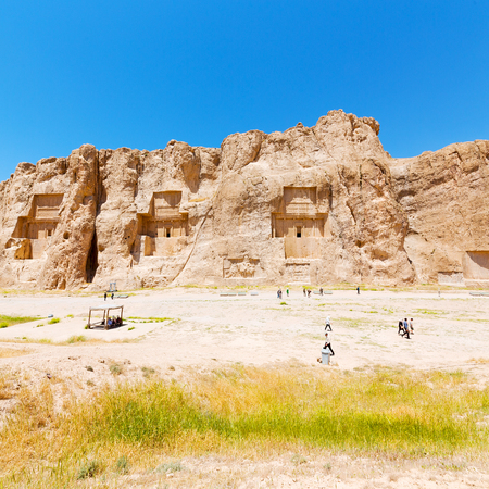 in iran near persepolis the old ruins historical destination monuments and ruin