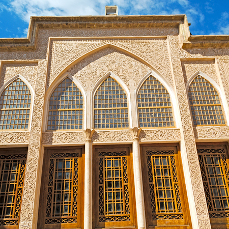 historic place: blur in iran the antique royal house incision and historic place Editorial