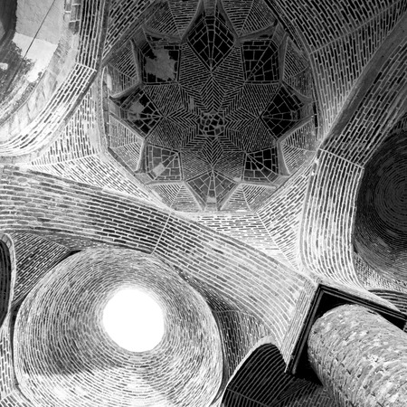 Sheikh: blur in iran abstract texture of the  religion  architecture mosque roof persian history Stock Photo