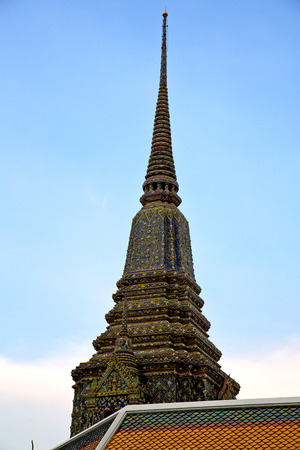 krung: bangkok in   temple   thailand abstract cross colors roof wat  palaces   asia sky   and  colors religion mosaic