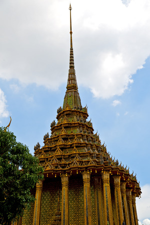 bangkok in   temple  thailand abstract cross colors roof  wat     asia sky   and  colors religion mosaic rain