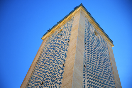 archways: muslim the history  symbol  in morocco  africa  minaret religion and  blue    sky