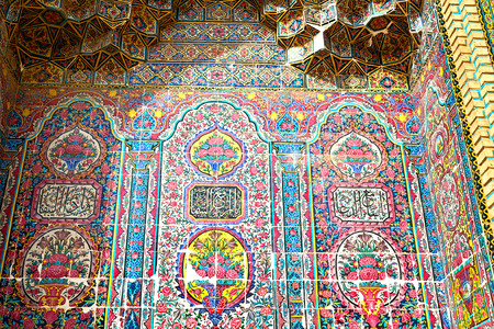 iran mosaic: iran the old decorative flower  tiles from antique mosque like background
