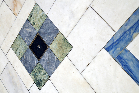 busto arsizio street lombardy italy varese abstract pavement of a curch and marble Archivio Fotografico