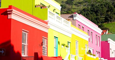 blur  in  south africa  cape town antique muslim quarter historic village Standard-Bild