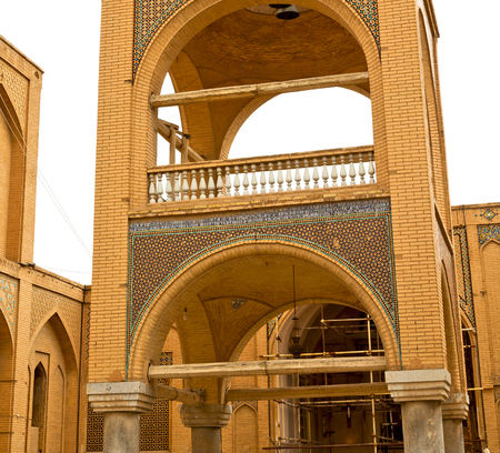 esfahan: blur in iran the old building   antique tradition monastery temple religion Stock Photo